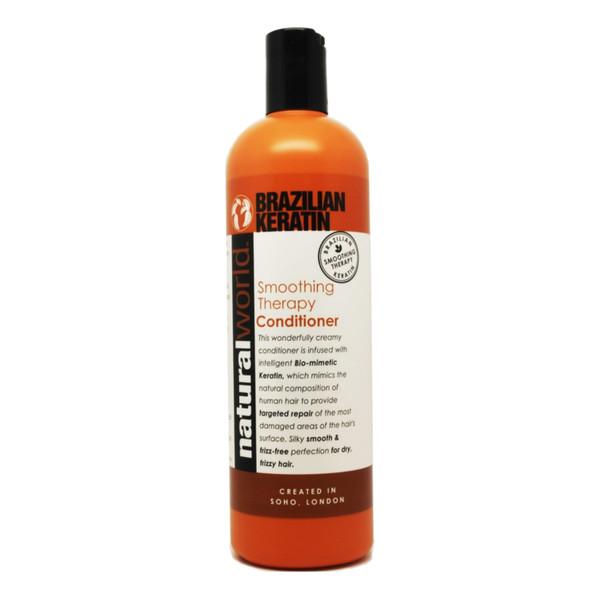 Natural World BRAZILIAN KERATIN Smoothing Therapy Wygładzająca odżywka do włosów suchych 500ml