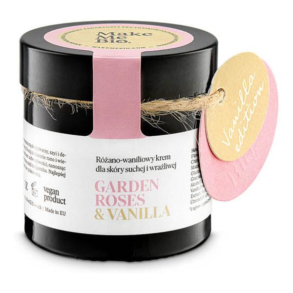 Make Me Bio Garden Roses Vanilla - Nawilżający krem różano - waniliowy dla skóry suchej i wrażliwej 60ml