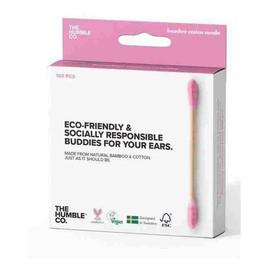 Patyczki Kosmetyczne Eco-Friendly Z Naturalnego Bambusa Pink 100szt.