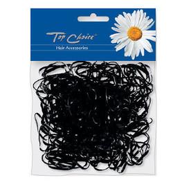 """gumki do włosów mini """"XS"""" czarne 200 szt."""