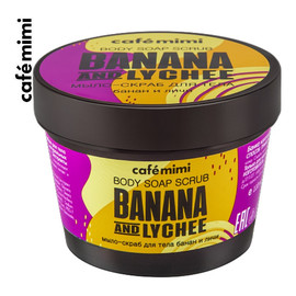 Mydło-scrub do ciała Banan i Liczi