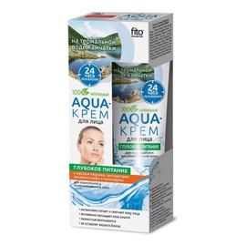 """Aqua-krem do twarzy """"Głębokie odżywianie"""" z olejem brzoskwiniowym"""