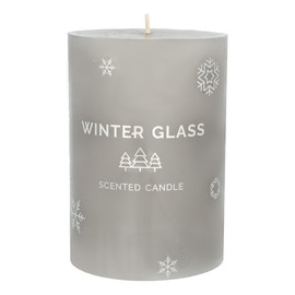 ARTMAN Boże Narodzenie Świeca zapachowa Winter Glass szara - walec średni 1szt