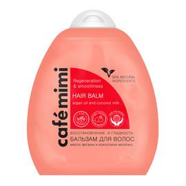Balsam do włosów - regeneracja i gładkość - olej arganowy, mleczko kokosowe, keratyna, D-panthenol - 95% składników naturalnych