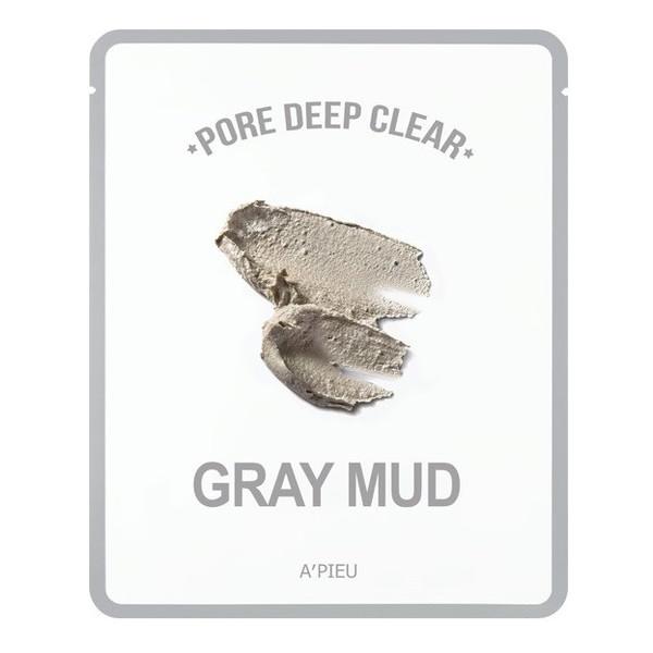 A'pieu Pore Deep Clear Oczyszczająca Maseczka Do Twarzy w płachcie Gray Mud 15g