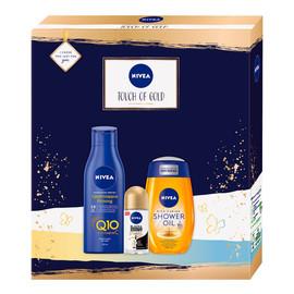 Zestaw olejek pod prysznic 200ml + ujędrniające mleczko do ciała 250ml + antyperspirant roll-on 50ml