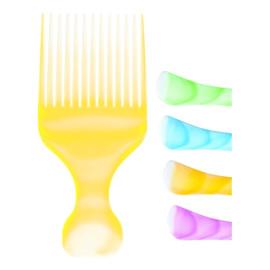 Grzebień do włosów Colour Afro mix kolorów (60403)