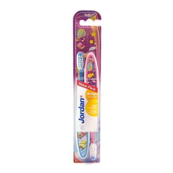 Jordan Amigo Szczoteczka do zębów (6-12 lat) Soft mix kolorów 2 szt.