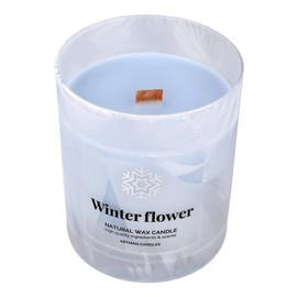 Świeca zapachowa Organic Winter Flower z drewnianym knotem