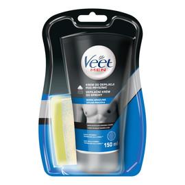 Krem do depilacji dla mężczyzn pod prysznic skóra wrażliwa + gąbka
