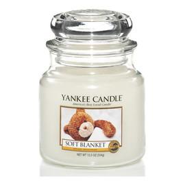 średnia świeczka zapachowa Soft Blanket
