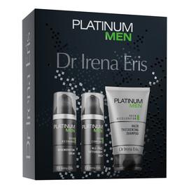 Zestaw Platinum Men Balsam po goleniu + Krem do twarzy + Szampon zagęszczający włosy