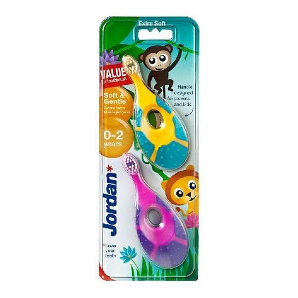 Jordan Soft & Gentle Szczoteczka do zębów dla dzieci (0-2 lat) bardzo miękka 2 szt.