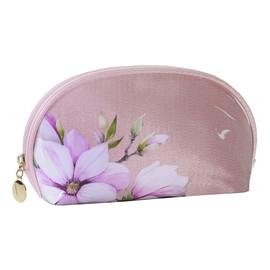 Kosmetyczka z wzorem kwiatowym różowa