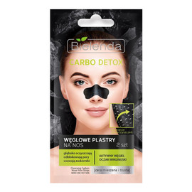 Czarny Węgiel Plastry oczyszczające na nos 2szt