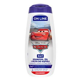 Żel pod prysznic 3w1 dla dzieci Cars - Cranberry