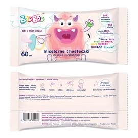 Micelarne chusteczki nawilżane z prebiotykiem dla dzieci 60szt