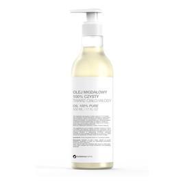 100% czysty do twarzy ciała i włosów z olejem migdałowym pompka
