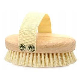 Szczotka do masażu i mycia ciała miękkie włókno tampico