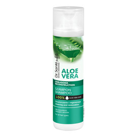 szampon aloesowy z keratyną ceramidami roślinnymi do wszystkich rodzajów włosów