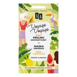 Peeling enzymatyczny + maska kremowa 2w1 Papaja & Ananas 2x5ml