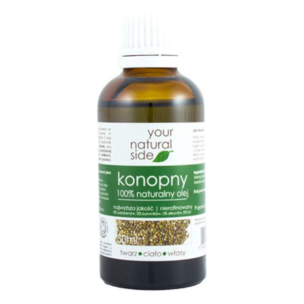 Your Natural Side Naturalny 100% olej konopny nierafinowany organic 50ml