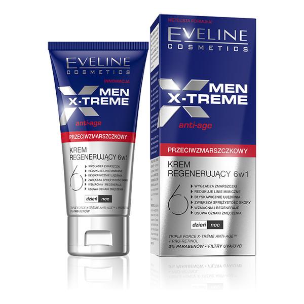 Eveline Men X-Treme Przeciwzmarszczkowy Krem Regenerujący 6w1 50ml