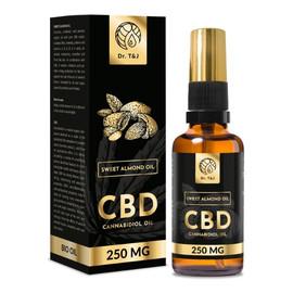 naturalny olej ze słodkich migdałów BIO + CBD 250 Mg