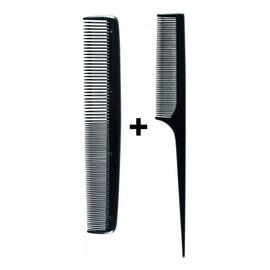 Grzebienie do włosów Popularne czarne (60465) 2szt
