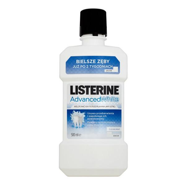 Listerine ADVANCED WHITE WIELOFUNKCYJNY PŁYN DO PŁUKANIA JAMY USTNEJ 500ml