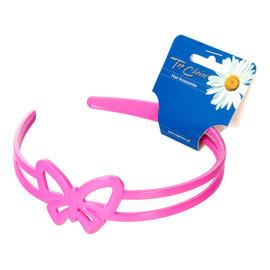 Opaska do włosów różowa (27178) 1szt