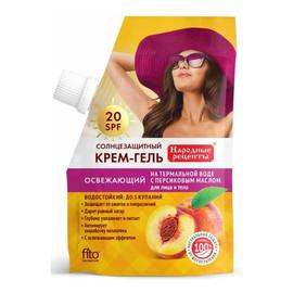 Odświeżający Krem-żel do opalania do twarzy i ciała 20 SPF