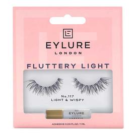 Fluttery light lashes sztuczne rzęsy z klejem efekt wypełnienia no. 117