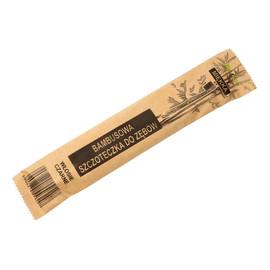 Szczoteczka do zębów bambusowa miękka - czarne włosie 1szt