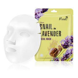 Snail Lavender Facial Mask maska w płachcie ze śluzem ślimaka i wyciągiem z lawendy dla cery dojrzałej