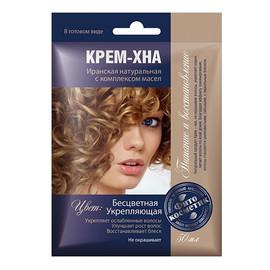 Kremowa Irańska Henna Bezbarwna Do Włosów Z Olejkami FIT65