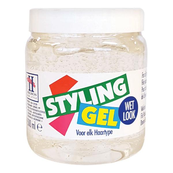 Hegron Styling Żel do modelowania włosów wetlook biały - TENEX 500ml