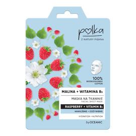 Maska na tkaninie Malina + Witamina B3 nawilżenie + odżywienie
