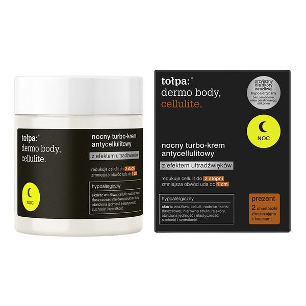 Tołpa Dermo Body Cellulite Nocny Turbo-Krem Antycellulitowy z efektem ultradźwięków 250ml