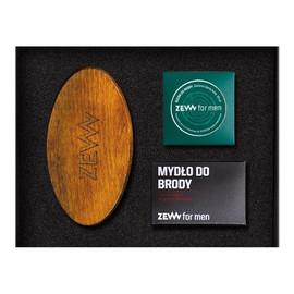 zestaw (szczotka do brody + olejek do brody 30ml + mydło do brody z węglem drzewnym 85ml)