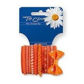 gumki do włosów pomarańczowe mix 12szt.