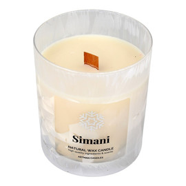 Artman Candles Świeca zapachowa Organic Winter Simani z drewnianym knotem