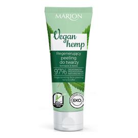 Vegan Hemp Regenerujący Peeling do twarzy Konopia & Kawa