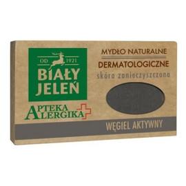 Dermatologiczne mydło z aktywnym węglem, cera zanieczyszczona
