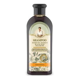 Wzmacniający szampon do włosów na bazie czarnego mydła Agafii