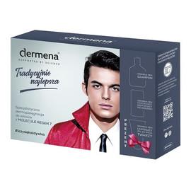 Zestaw prezentowy: Szampon Men hamujący wypadanie włosów 200ml + Krem nawilżający po goleniu 50ml + Żel łagodzący do mycia twarzy