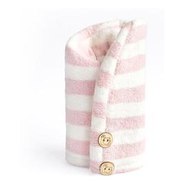Ręcznik do włosów z mikrofibry Pink + White