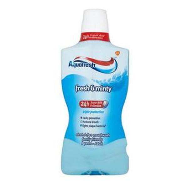 Aquafresh Fresh & Minty Płyn Do Płukania Ust 500ml