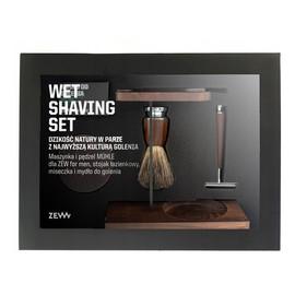 Zestaw maszynka do golenia + pędzel do golenia + miseczka + stojak na pędzel i maszynkę + mydło do golenia 85ml