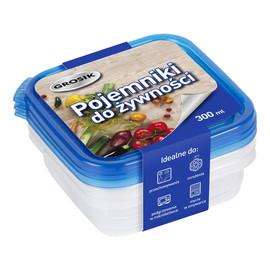 Pojemniki na żywność 3sztx300ml